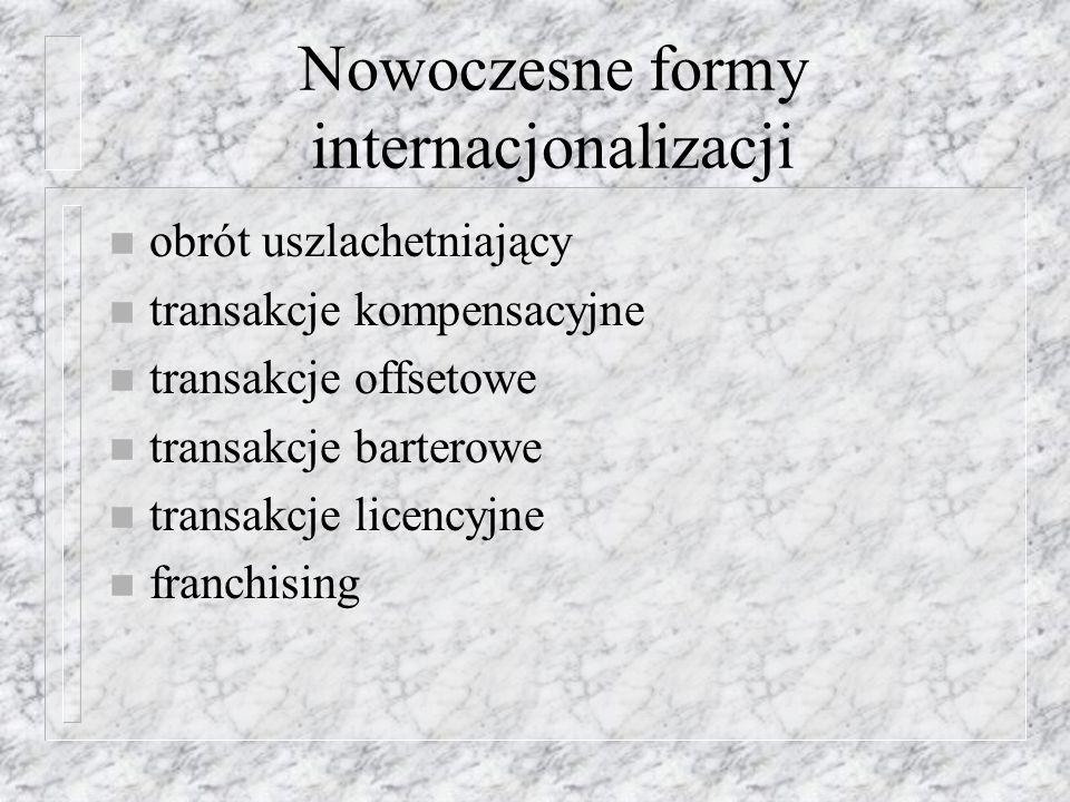 BIZ w Polsce n Po roku 2000 zahamowana została wysoka dynamika napływu BIZ do Polski
