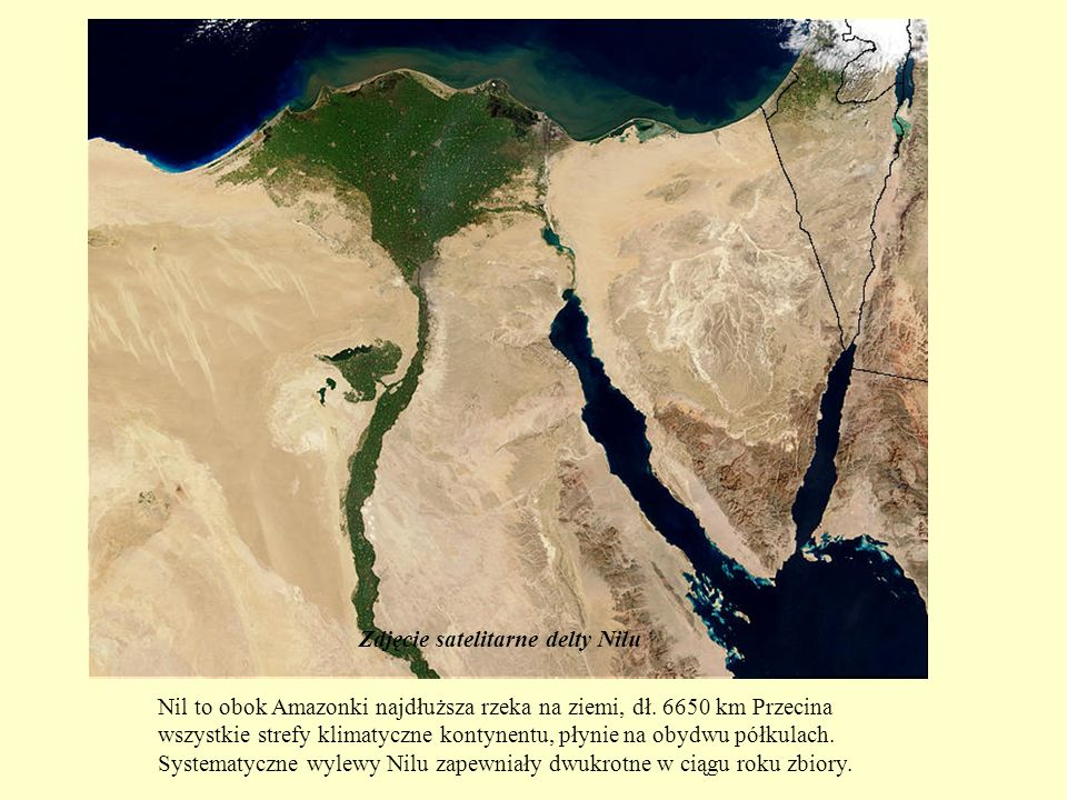 Poza wybrzeżem krajobraz Egiptu był surowy i pustynny.