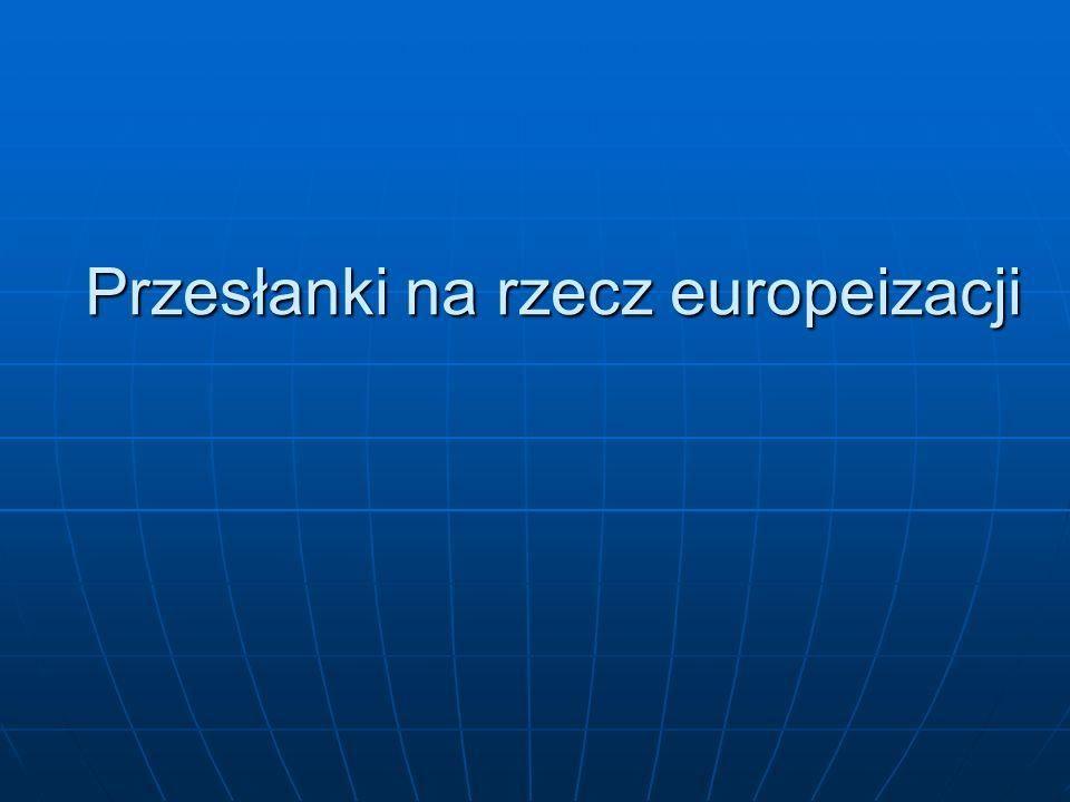 Przesłanki na rzecz europeizacji