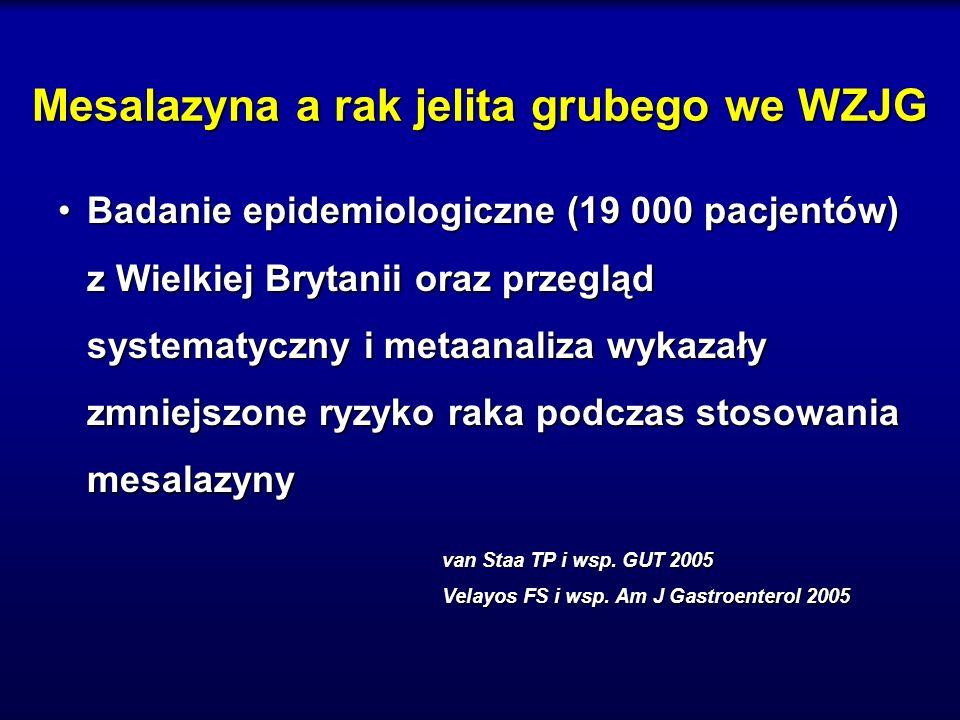 Mesalazyna a rak jelita grubego we WZJG Badanie epidemiologiczne (19 000 pacjentów) z Wielkiej Brytanii oraz przegląd systematyczny i metaanaliza wyka