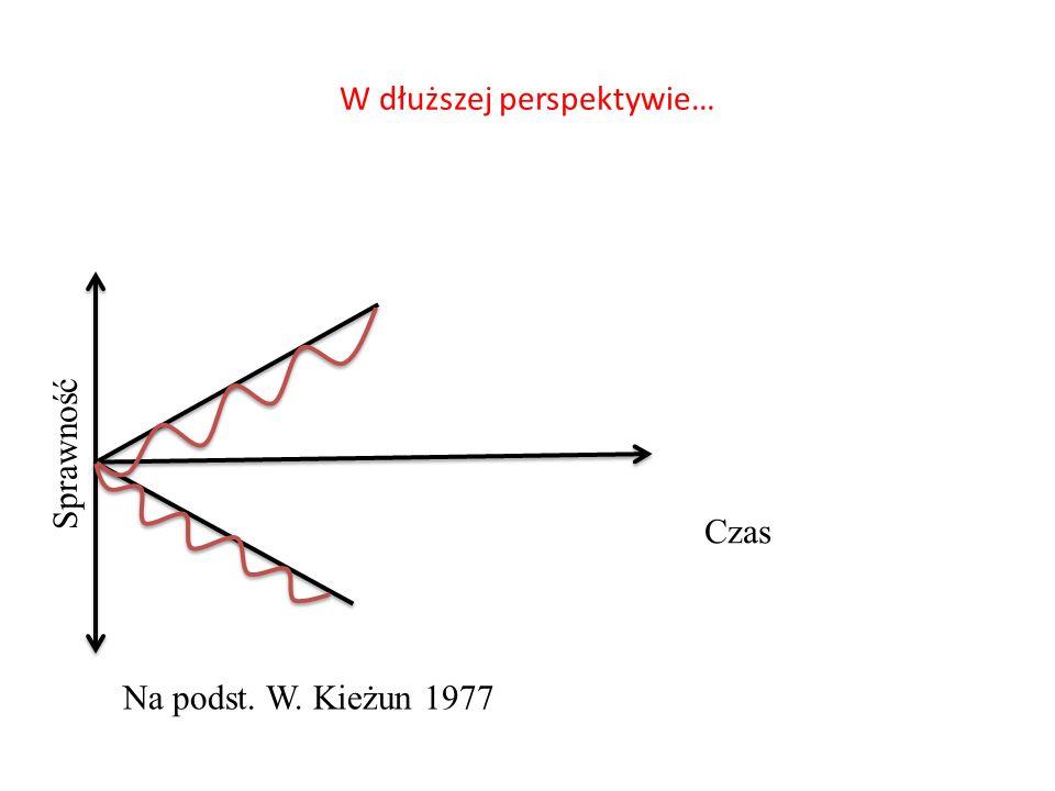 W dłuższej perspektywie… Sprawność Czas Na podst. W. Kieżun 1977
