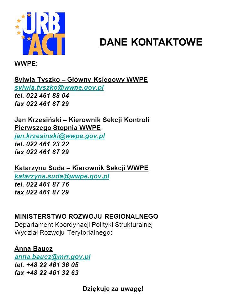 WWPE: Sylwia Tyszko – Główny Księgowy WWPE sylwia.tyszko@wwpe.gov.pl tel.