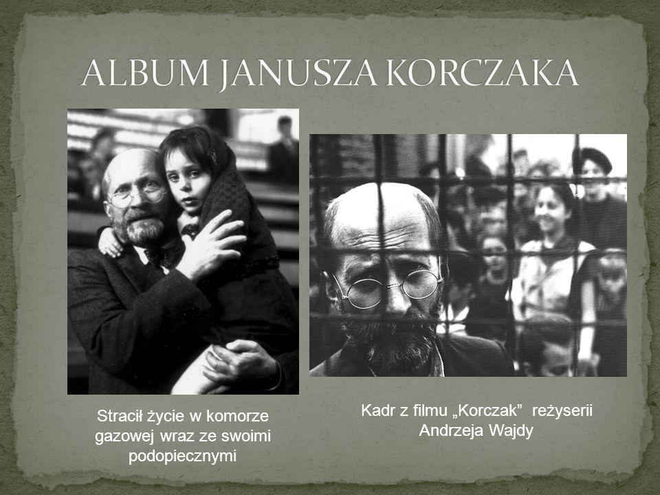 Stracił życie w komorze gazowej wraz ze swoimi podopiecznymi Kadr z filmu Korczak reżyserii Andrzeja Wajdy