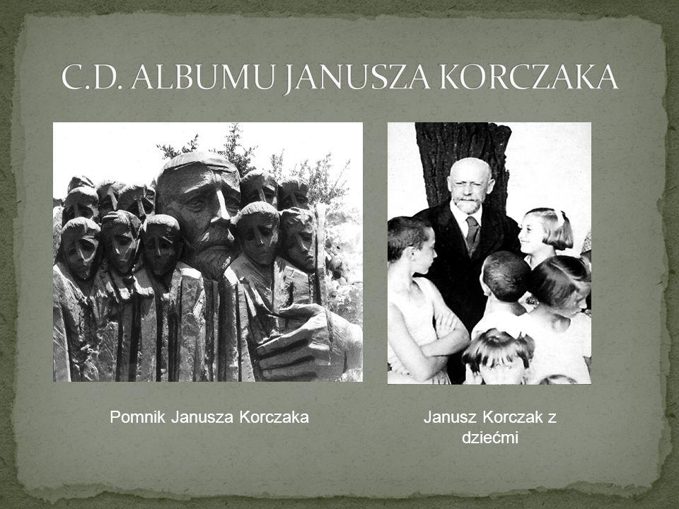 Pomnik Janusza KorczakaJanusz Korczak z dziećmi