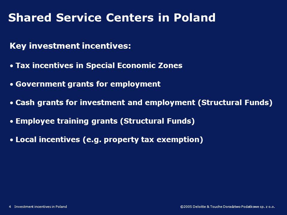 ©2005 Deloitte & Touche Doradztwo Podatkowe sp. z o.o. Government grants for employment