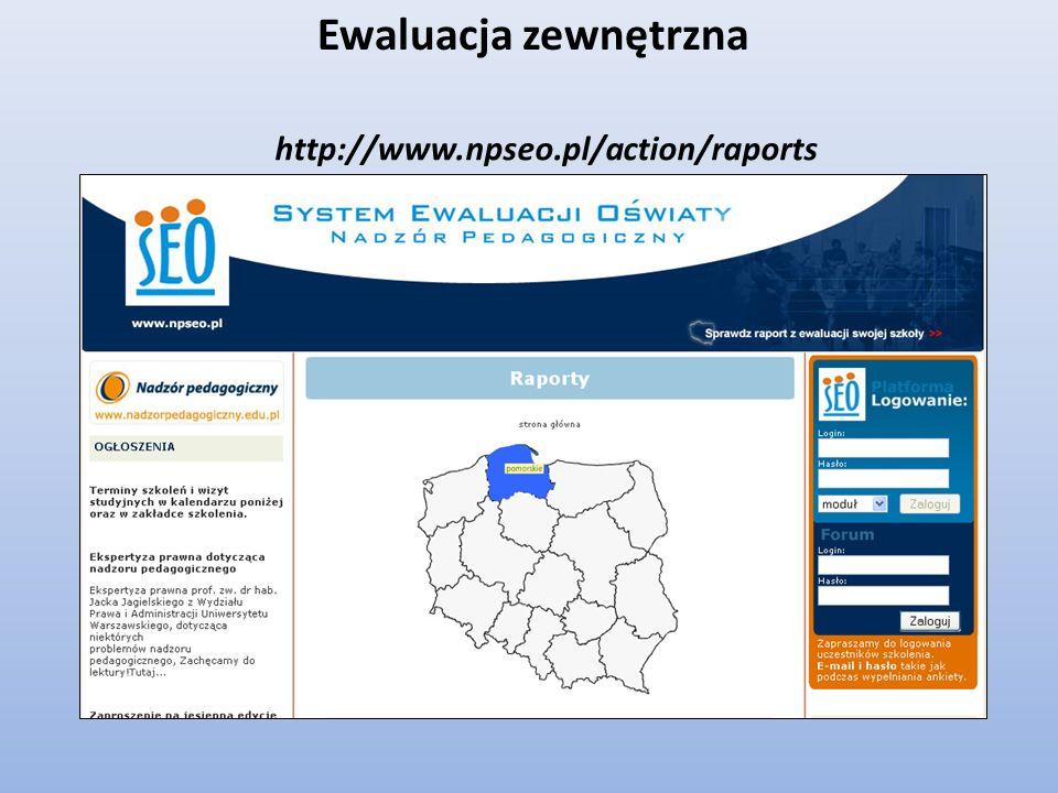 http://www.npseo.pl/action/raports Ewaluacja zewnętrzna