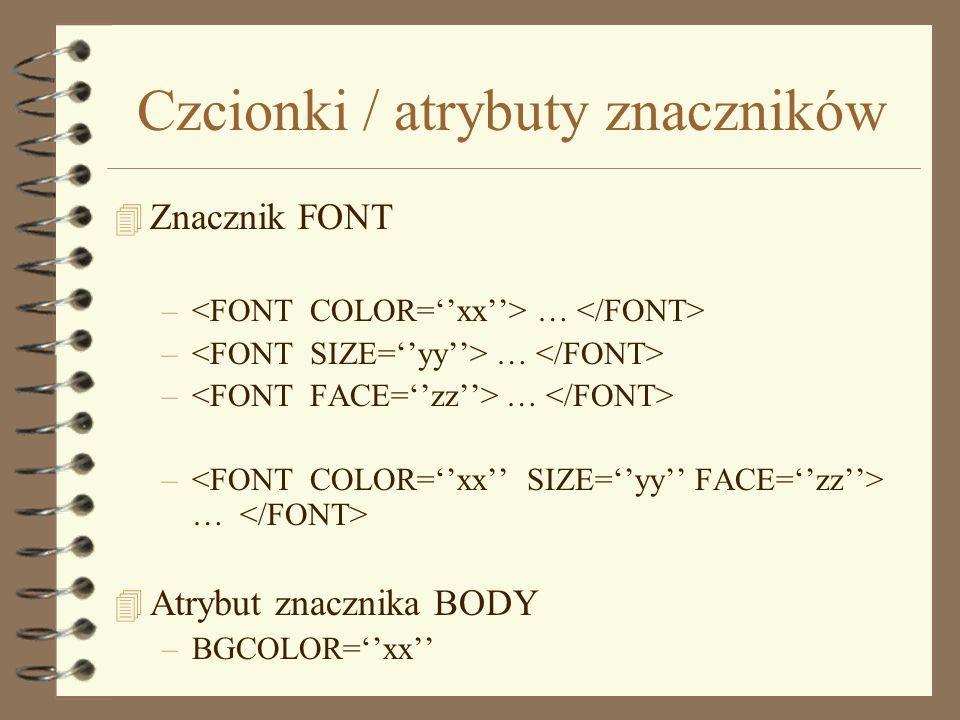 Kolory w HTML 4 Kolory podstawowe 4 Notacja szesnastkowa –#RRGGBB #000000 #FFFFFF #999999 #FF0000 #00FF00 #3A21F2