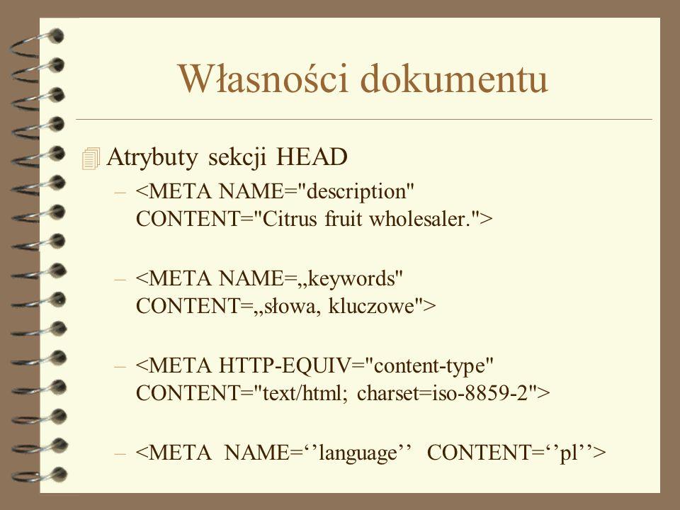 Linki 4 Linki – tekst -Adres względny / bezwzględny -Użycie katalogu bieżącego –Sterowanie oknem TARGET=_blank TARGET=nazwa