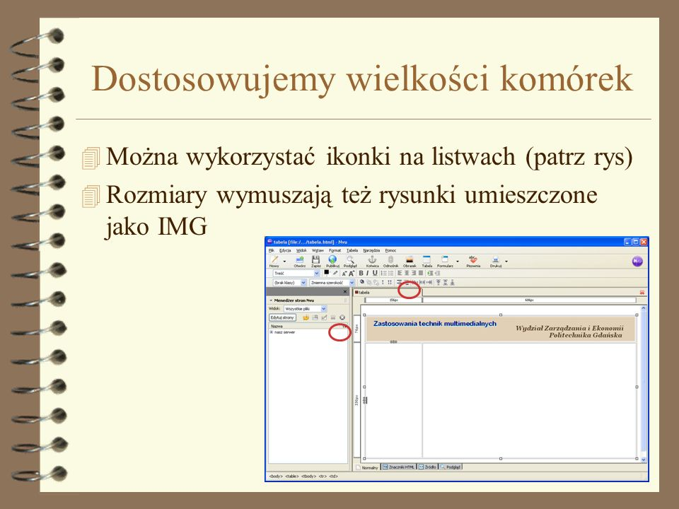Wstawiamy nagłówek 4 Wstaw przygotowany wcześniej obrazek korzystając z ikonki obrazek