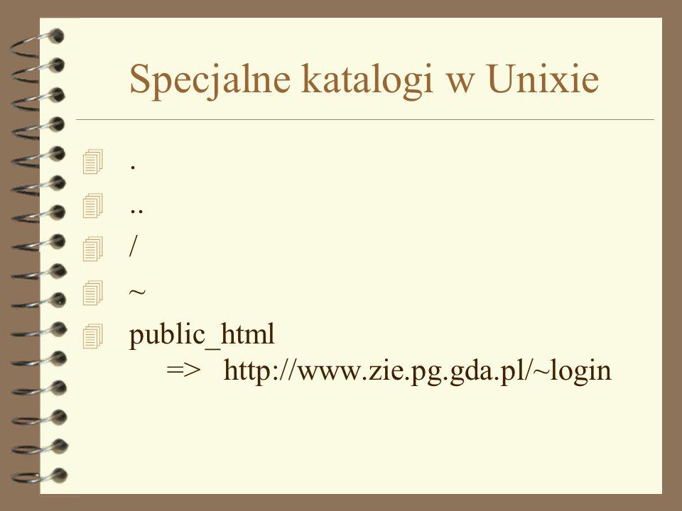 Nazwy plików i katalogów dla Internetu 4 Bez spacji - zamiast spacji używamy podkreślenia ( _ ) 4 Bez polskich liter - zamiast polskich liter używamy