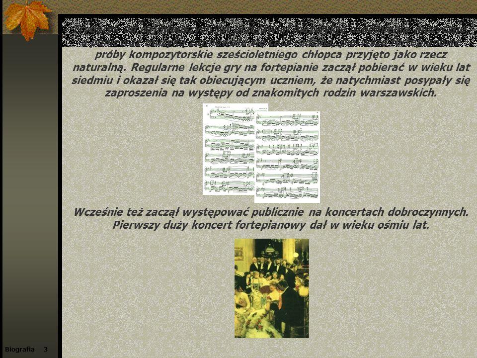 Biografia 3 Fryderyk od najmłodszych lat przejawiał niezwykłe uzdolnienia muzyczne, a ponieważ muzyką zajmowała się cała rodzina, pierwsze fortepianow