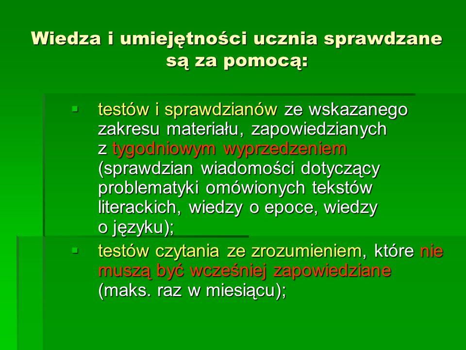 Zasady oceniania dłuższych wypowiedzi pisemnych (kryteria): kompozycja (K) – 0 pkt.