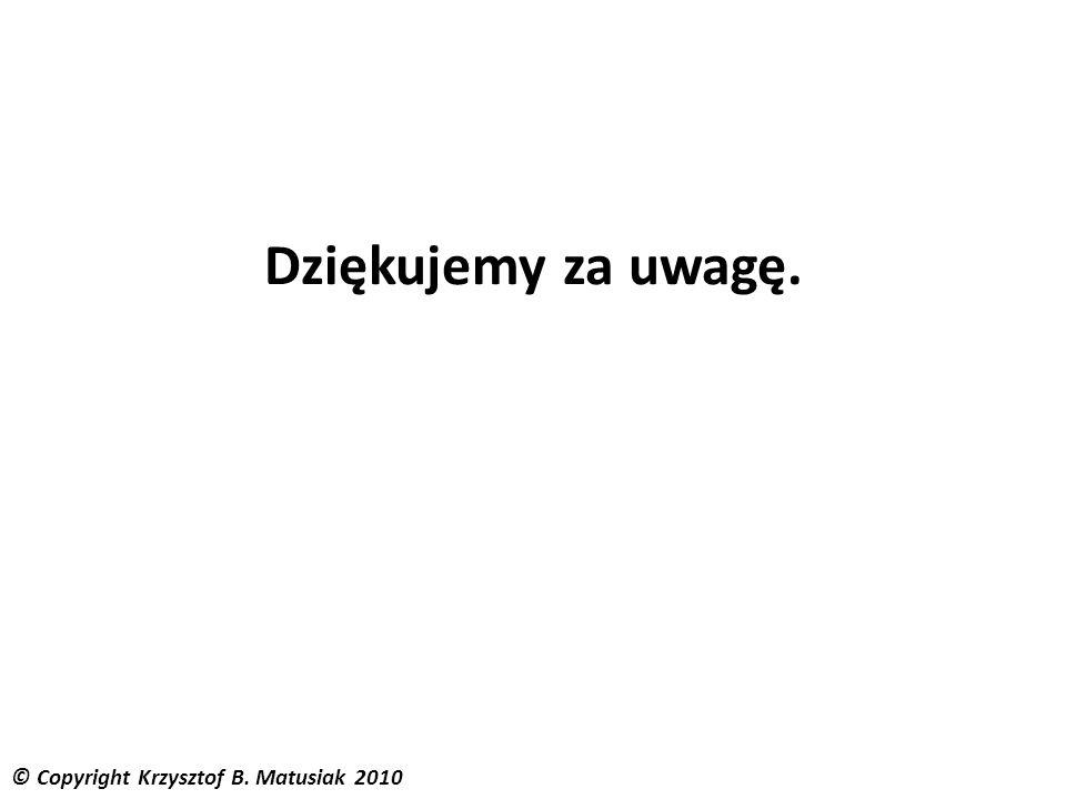 © Copyright Krzysztof B. Matusiak 2010 Dziękujemy za uwagę.