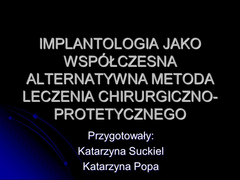 Przeciwskazania do implantacji 1.