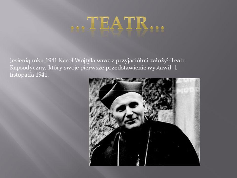 Rozstanie Wojtyły z teatrem nastąpiło nagle w roku 1942, gdy postanowił studiować teologię i wstąpił do tajnego Metropolitalnego Seminarium Duchownego w Krakowie, gdzie 1 listopada 1946, otrzymał święcenia kapłańskie.