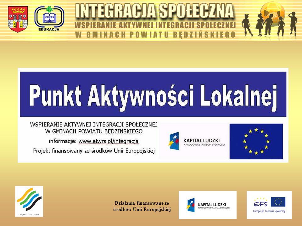 Szkolenia: GodzinyTEMATYKA SZKOLEŃ 54Wykłady szkoleniowe – przybliżanie idei integracji społecznej mieszkańcom gmin zakładanie podmiotów gospodarczych, zakładanie organizacji pozarządowych, tworzenie biznes planu, możliwości pozyskiwania środków z funduszy Unii Europejskiej, agroturystyka szansą dla rozwoju społeczności lokalnych, kuchnia regionalna – sposób na samozatrudnienie, artystyczna twórczość regionalna, zwiększenie szansy powodzenia absolwentów na rynku pracy przy rozmowie kwalifikacyjnej oraz doskonalenie umiejętności autoprezentacji, 500Warsztaty szkoleniowe i konsultacje 60Działania dotyczące rozwoju usług społecznych przygotowanie merytoryczne kadr oraz formuły działania dla Punktów Aktywności Lokalnej, 150Symulacje zakładania i prowadzenia przedsiębiorstw podstawy funkcjonowania przedsiębiorstw, zakładanie podmiotów gospodarczych, finansowanie podmiotów gospodarczych, marketing w działalności przedsiębiorstw, rekrutacja pracowników, elementy zarządzania, tworzenie biznes planu, możliwości pozyskiwania środków z funduszy Unii Europejskiej, agroturystyka szansą dla rozwoju społeczności lokalnych, kuchnia regionalna – sposób na samozatrudnienie, zwiększenie szansy powodzenia absolwentów na rynku pracy przy rozmowie kwalifikacyjnej komunikacja interpersonalna oraz autoprezentacja język angielski w biznesie 40Symulacje zakładania i prowadzenia organizacji pozarządowej podstawy prawne funkcjonowania organizacji pozarządowych możliwości pozyskiwania środków z funduszy Unii Europejskiej, 250Tworzenie dzieł artystycznych opartych na sztuce ludowej metodyka i techniki plastyki przedsiębiorczość – wytwarzanie dzieł artystycznych Działania finansowane ze środków Unii Europejskiej