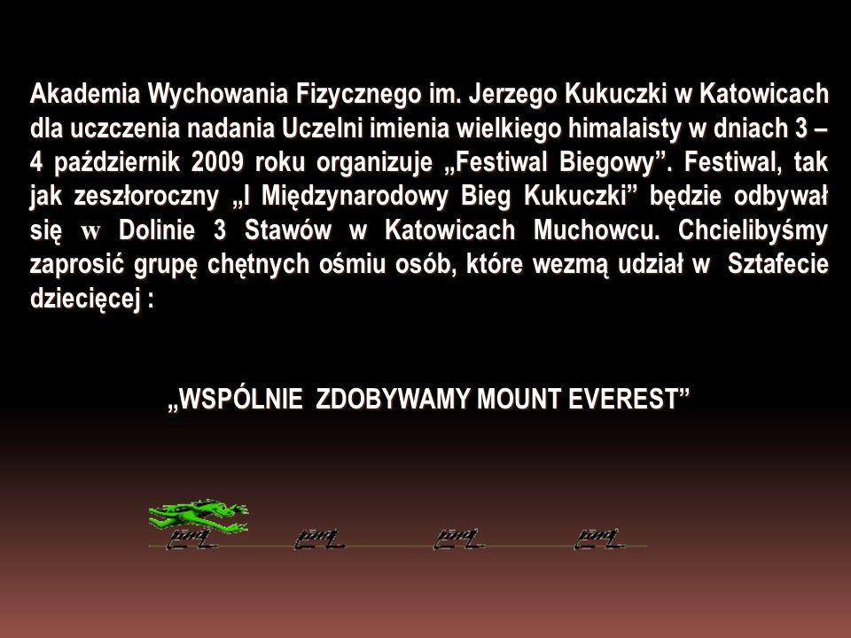 Akademia Wychowania Fizycznego im. Jerzego Kukuczki w Katowicach dla uczczenia nadania Uczelni imienia wielkiego himalaisty w dniach 3 – 4 październik