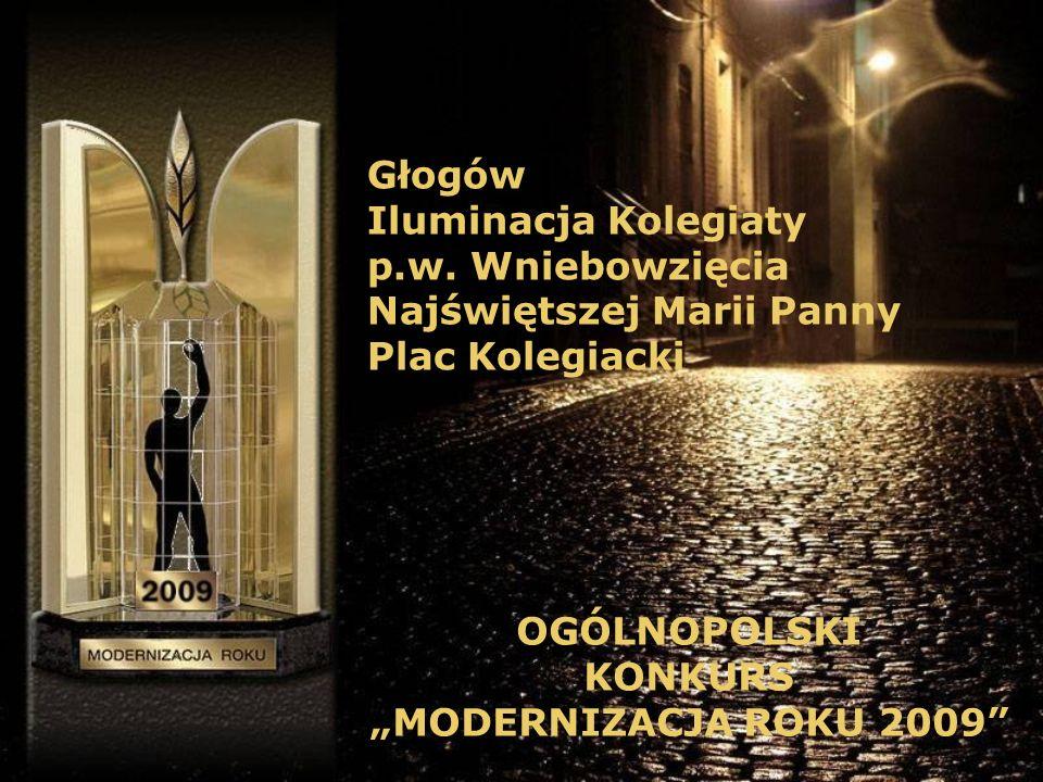 Głogów Iluminacja Kolegiaty p.w.