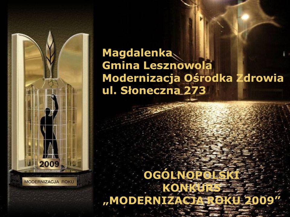 Magdalenka Gmina Lesznowola Modernizacja Ośrodka Zdrowia ul.
