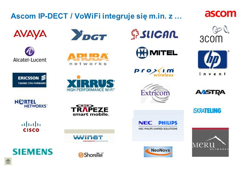 Ascom IP-DECT / VoWiFi integruje się m.in. z …