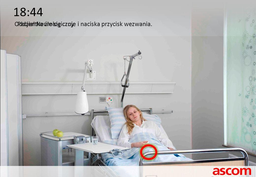 18:44 Oddział NeurologicznyPacjentka źle się czuje i naciska przycisk wezwania.