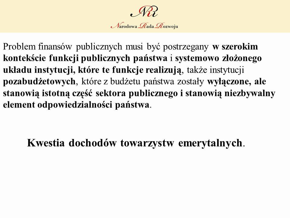 Problem finansów publicznych musi być postrzegany w szerokim kontekście funkcji publicznych państwa i systemowo złożonego układu instytucji, które te
