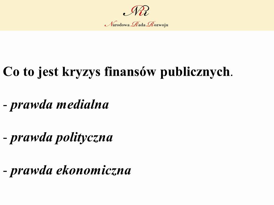 Co to jest kryzys finansów publicznych. - prawda medialna - prawda polityczna - prawda ekonomiczna