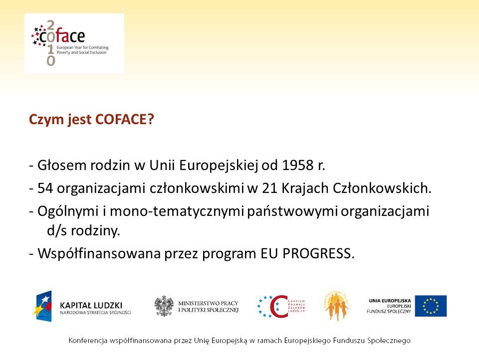 Czym jest COFACE.- Głosem rodzin w Unii Europejskiej od 1958 r.