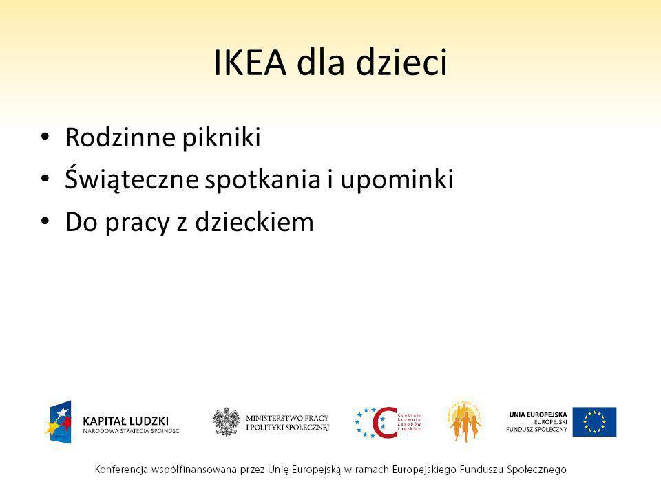 IKEA dla dzieci Rodzinne pikniki Świąteczne spotkania i upominki Do pracy z dzieckiem