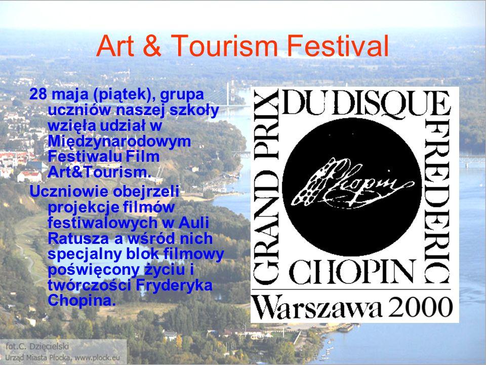 Art & Tourism Festival 28 maja (piątek), grupa uczniów naszej szkoły wzięła udział w Międzynarodowym Festiwalu Film Art&Tourism. Uczniowie obejrzeli p