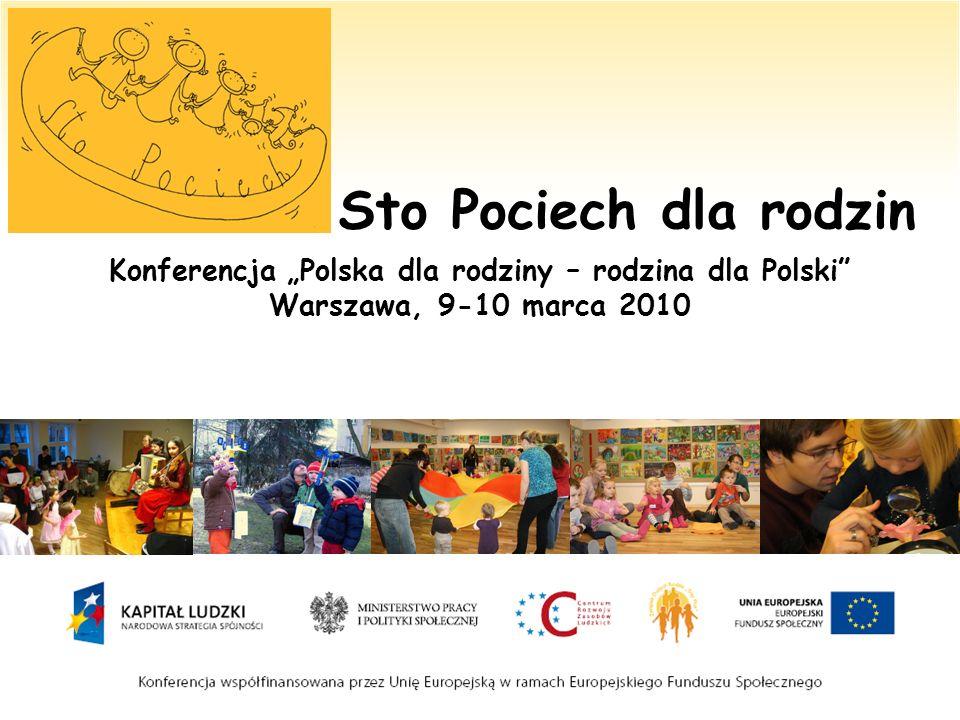 Sto Pociech dla rodzin Konferencja Polska dla rodziny – rodzina dla Polski Warszawa, 9-10 marca 2010