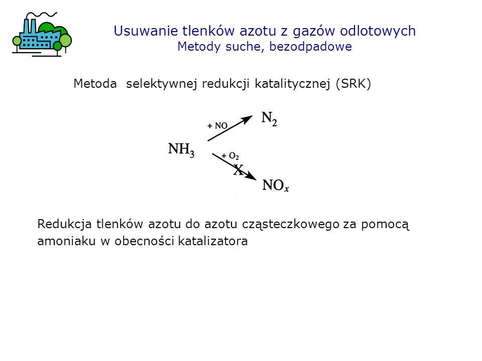 Usuwanie tlenków azotu z gazów odlotowych Metody suche, bezodpadowe Metoda selektywnej redukcji katalitycznej (SRK) Redukcja tlenków azotu do azotu cz