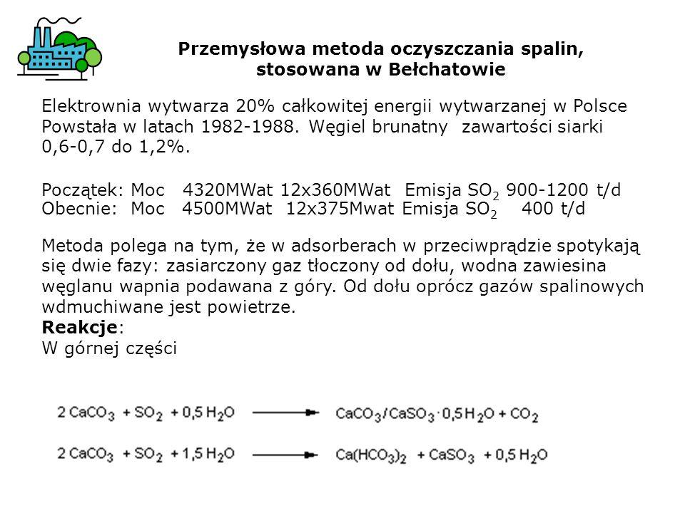 Elektrownia wytwarza 20% całkowitej energii wytwarzanej w Polsce Powstała w latach 1982-1988. Węgiel brunatny zawartości siarki 0,6-0,7 do 1,2%. Począ