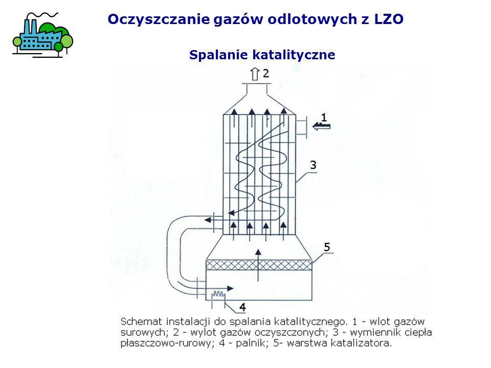 Spalanie katalityczne Oczyszczanie gazów odlotowych z LZO