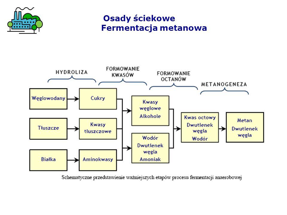 Osady ściekowe Fermentacja metanowa