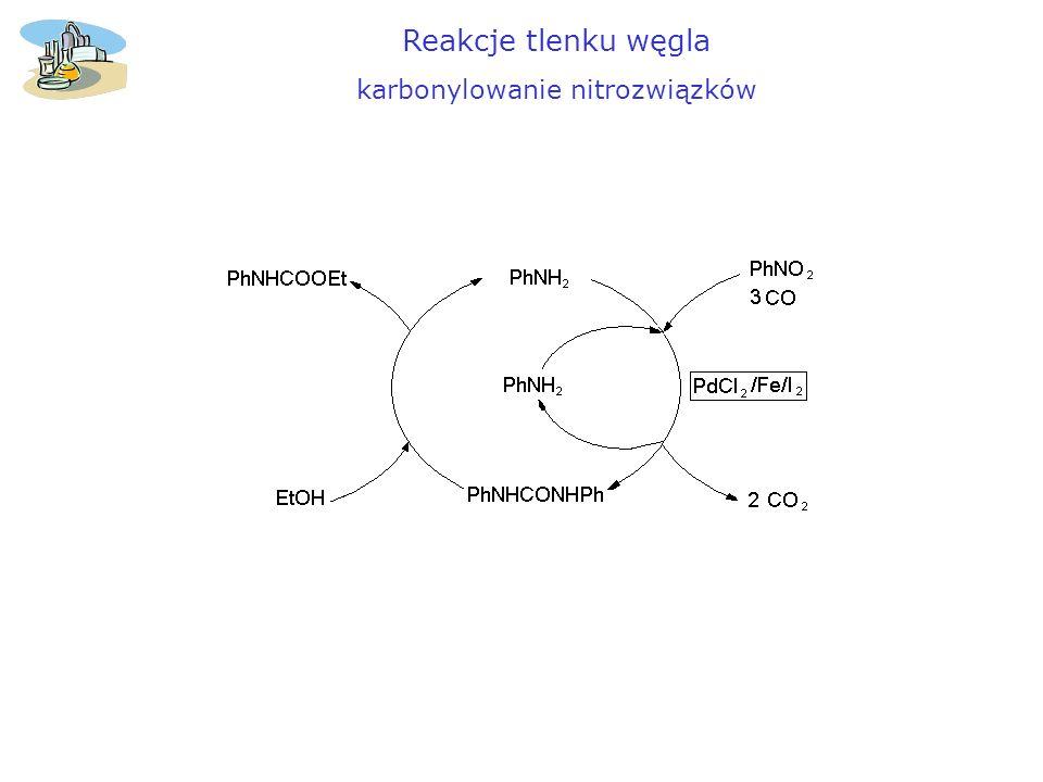 Reakcje tlenku węgla karbonylowanie nitrozwiązków