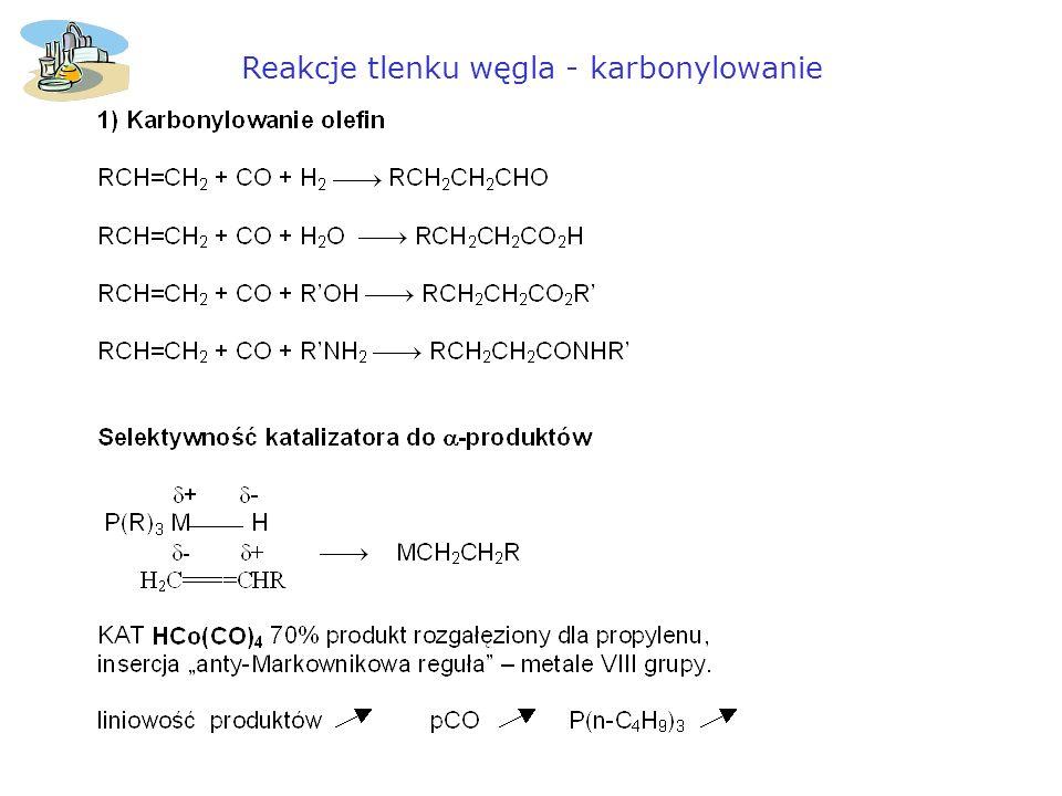 Reakcje tlenku węgla - karbonylowanie