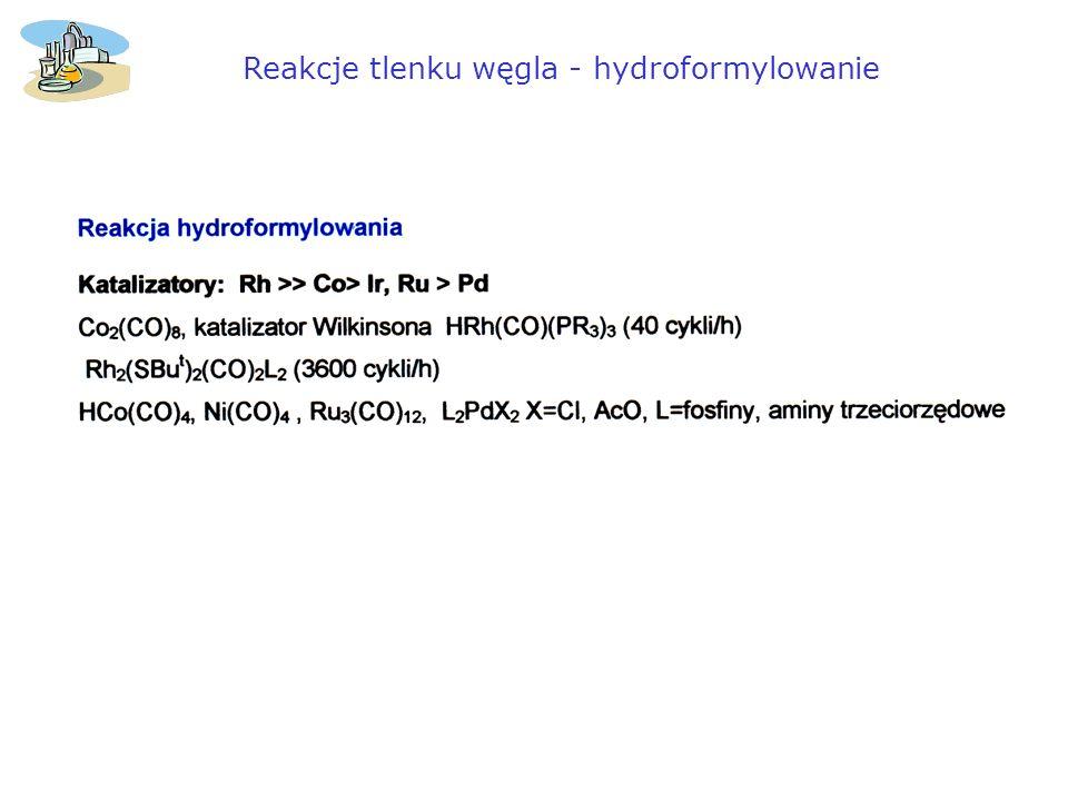Reakcje tlenku węgla - hydroformylowanie