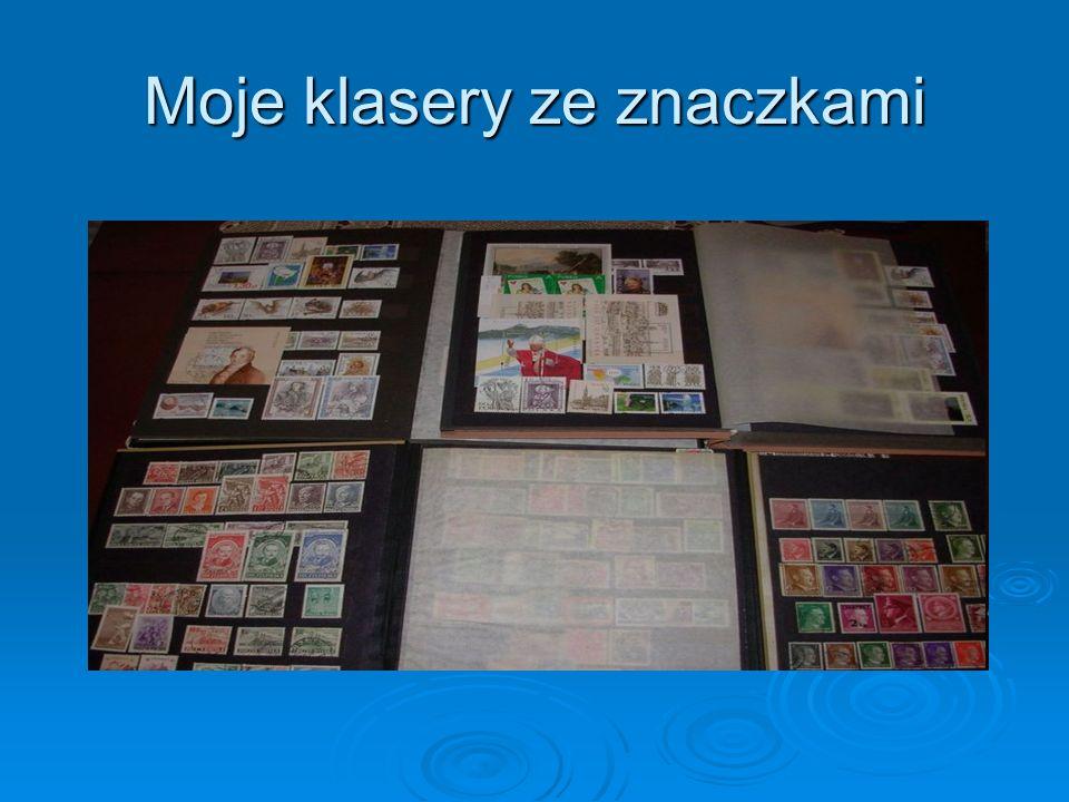Moje klasery ze znaczkami