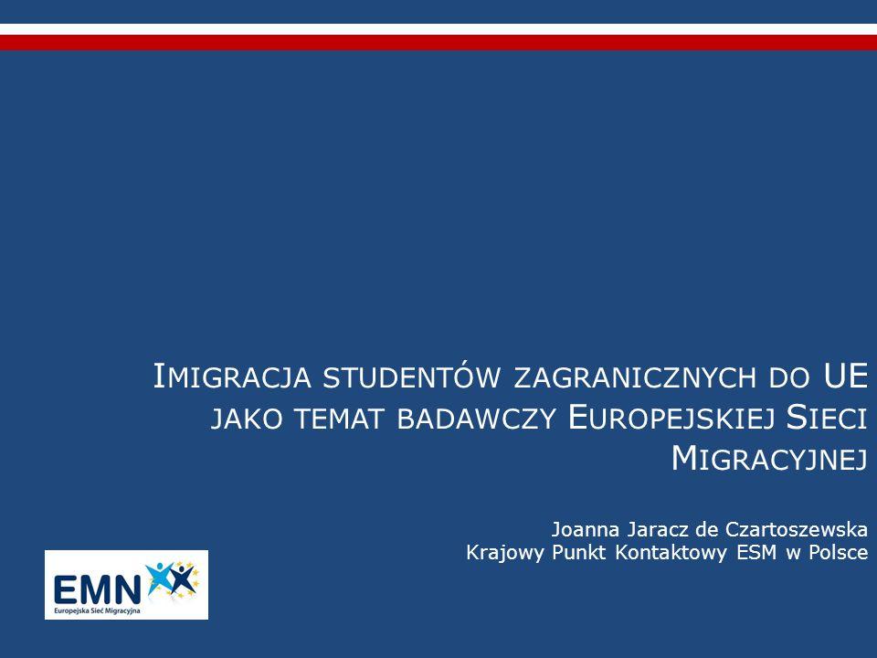 Struktura raportów krajowych – c.d.: 4) Współpraca międzynarodowa (umowy międzypaństwowe dwustronne i wielostronne, umowy pomiędzy uczelniami, współpraca z organizacjami UE/MN, ułatwianie mobilności wewnątrzunijnej – Erasmus Mundus – oraz mobilności pozaunijnej) – doświadczenia dotychczasowe, plany na przyszłość.