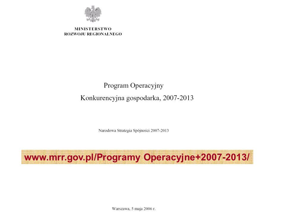 www.mrr.gov.pl/Programy Operacyjne+2007-2013/