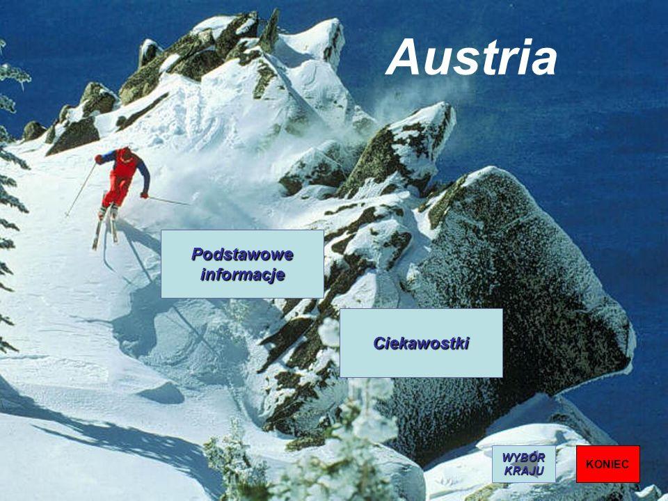 Austria Podstawowe informacje Ciekawostki KONIEC WYBÓR KRAJU