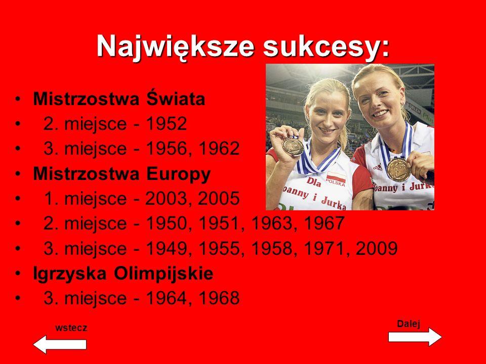Największe sukcesy: Mistrzostwa Świata 2.miejsce - 1952 3.