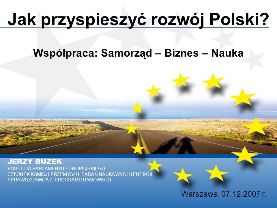 JERZY BUZEK POSEŁ DO PARLAMENTU EUROPEJSKIEGO CZŁONEK KOMISJI PRZEMYSŁU, BADAŃ NAUKOWYCH I ENERGII SPRAWOZDAWCA 7.