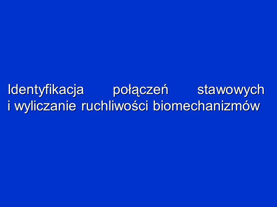 Identyfikacja połączeń stawowych i wyliczanie ruchliwości biomechanizmów