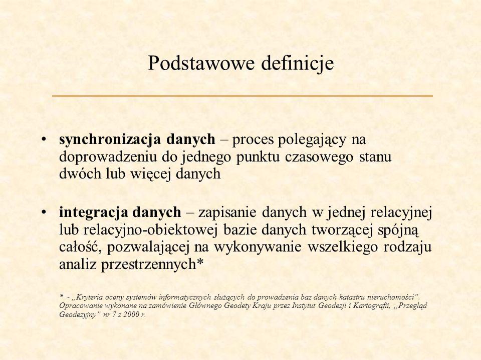 Problemy prawne i techniczne synchronizacji danych geometrycznych i opisowych ewidencji gruntów Józef Maślanka Akademia Górniczo-Hutnicza Wydział Geod