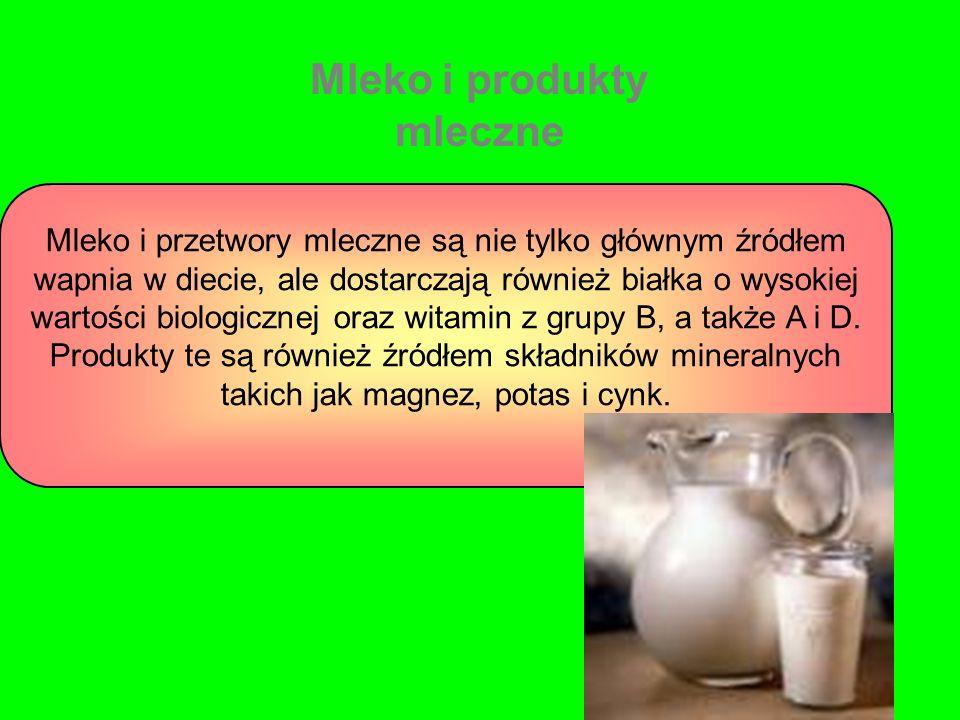 Mleko i przetwory mleczne są nie tylko głównym źródłem wapnia w diecie, ale dostarczają również białka o wysokiej wartości biologicznej oraz witamin z