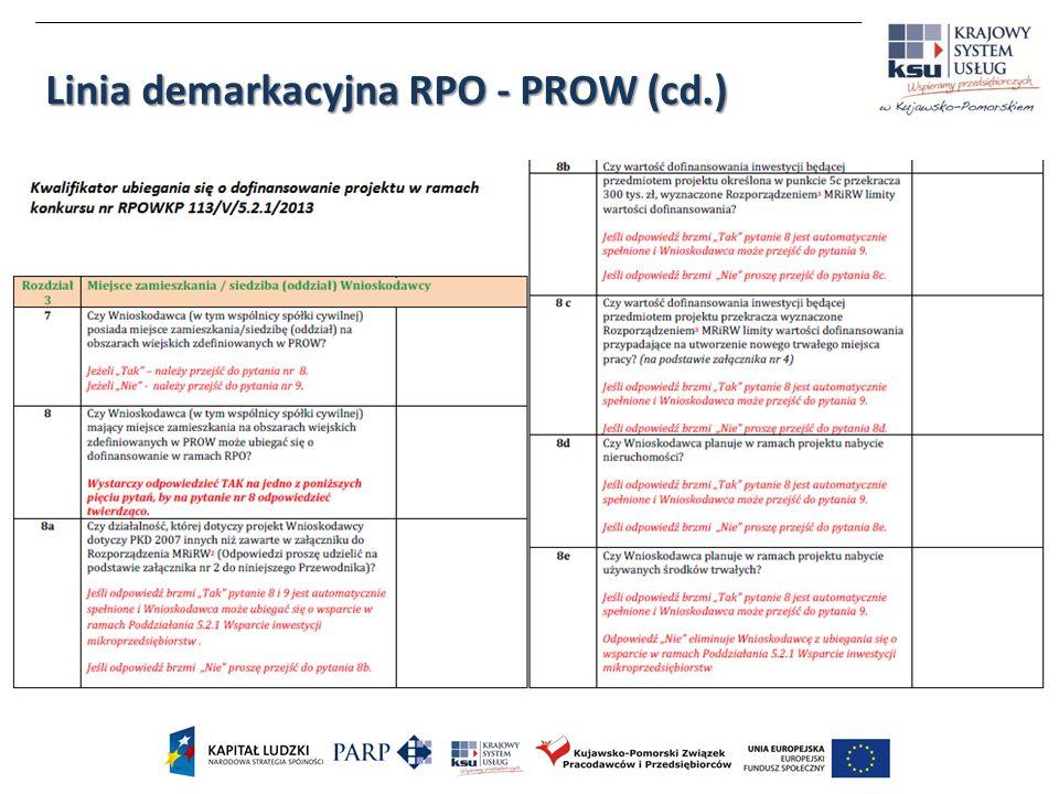 Linia demarkacyjna RPO - PROW (cd.)
