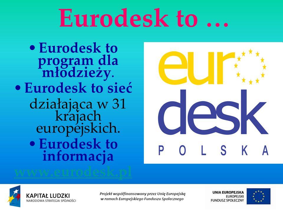 Eurodesk to … Eurodesk to program dla młodzieży.