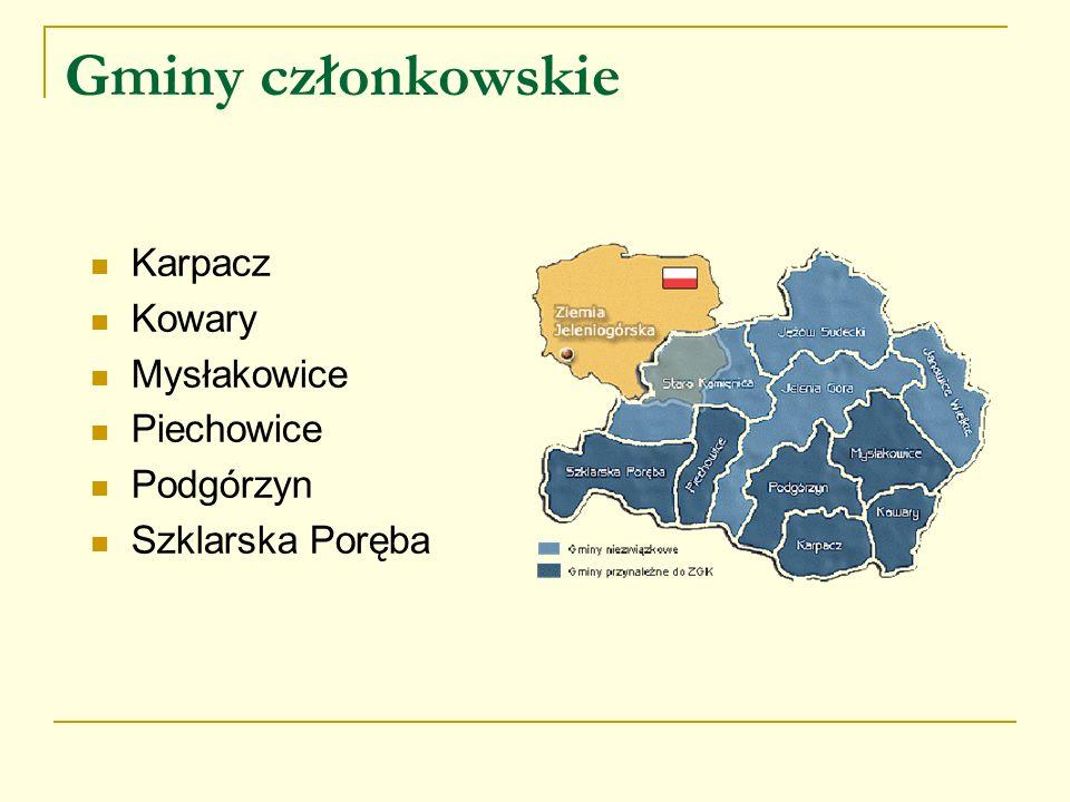 Gminy członkowskie Karpacz Kowary Mysłakowice Piechowice Podgórzyn Szklarska Poręba